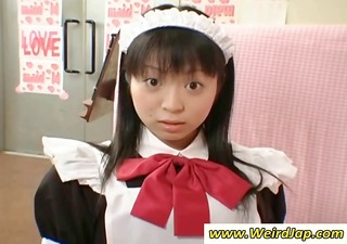 petite japanese maid gets punished for being bad