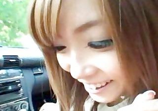 japanese tart gives head in a car